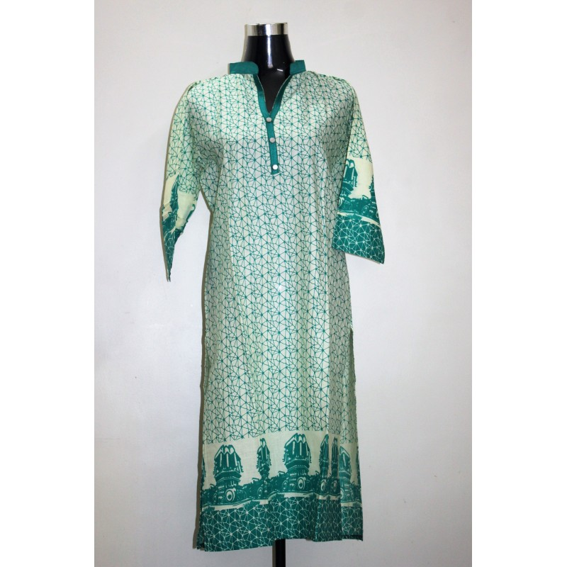 Electric Print Casual Cotton Kurti