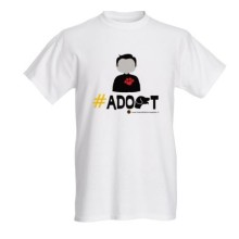 Adopt T-shirt for animal lovers (Female)
